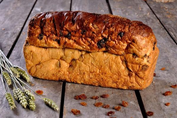Rozijnen brood